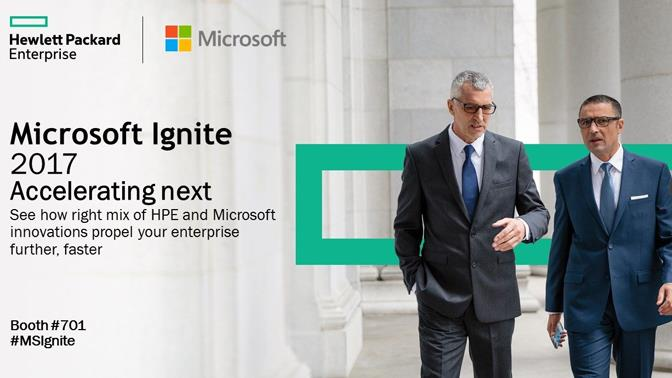 MS Ignite 2017 HPE